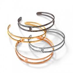 Brass Bracelet 9x60mm w/2 Loops
