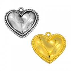 Zamak Charm Heart 21mm