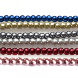 Glass Pearl Round 6mm (~72pcs/string)