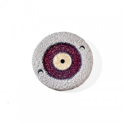Ceramic Enamel Connector Eye Round 53mm
