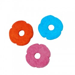 Κεραμική Ροδέλα Λουλούδι Μαργαρίτα 12mm/2.6mm (Ø3mm)
