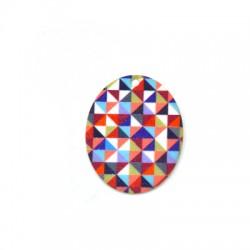 Plexi Acrylic Pendant Oval 32x40mm