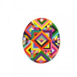 Plexi Acrylic Pendant Oval 40x50mm
