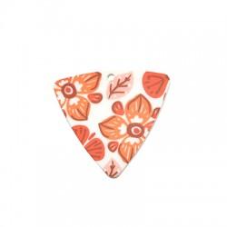 Πλέξι Ακρυλικό Μοτίφ Τρίγωνο Λουλούδια 44x42mm