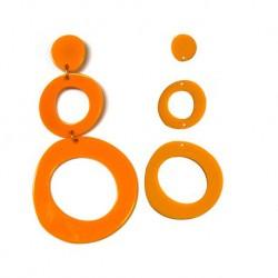 Plexi Acrylic Earring Set 80x40mm (3pcs)