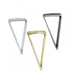 Brass Triangle Pendant 19x44mm