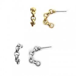 Brass Earring Chain Hoop 6x20mm