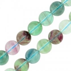 Perlina di Pietra Semipreziosa Fluorite 10mm (40pz) (Ø1mm)