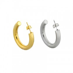 Stainless Steel 304 Earring Hoop & Back Safety 30mm/5mm