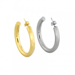 Stainless Steel 304 Earring Hoop & Back Safety 40mm/5mm