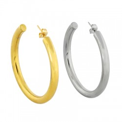 Stainless Steel 304 Earring Hoop & Back Safety 50mm/5mm