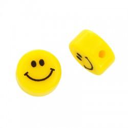 Χάντρα Ρητίνης Στρογγυλή  Επίπεδη Χαμόγελο 12mm/6mm (Ø2mm)