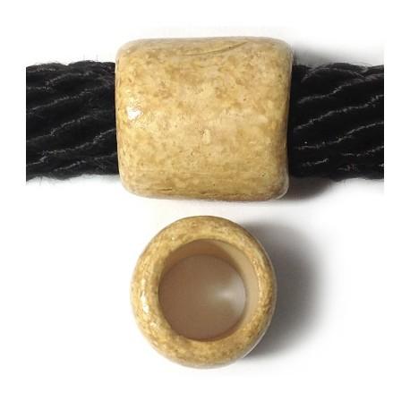 Tubo Passante in Ceramica Dipinta a Freddo 23x25mm( Ø 15mm)