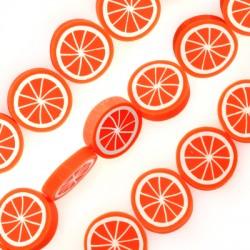 Mosaic Slider Fruit Slice Orange 20mm (~20pcs/string)