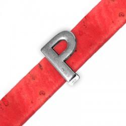 Μεταλλικό Ζάμακ Χυτό Περαστό Γράμμα 'P' 15mm (Ø10.5x2.4mm)