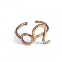 Brass Casting Finger Ring Leo 20mm