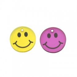 Pendentif tête souriante en Plexiacrylique 17mm