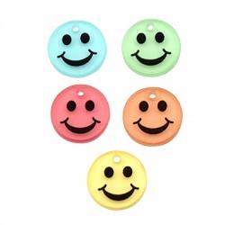Pendentif tête souriante en Plexiacrylique 15mm