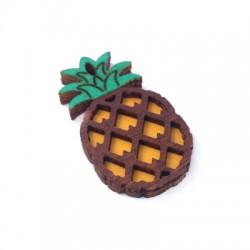 Wooden Pendant Pineapple 40x22mm