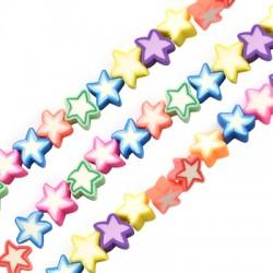 Passant étoile en pâte polymère 10mm (40pcs/fil)