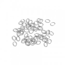 Stainless Steel 304 Oval Ring 0.5mm/3x4mm