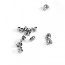 Stainless Steel 304 Earring Back Safety 5x4mm