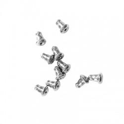 Stainless Steel 304 Κούμπωμα & Ασφάλεια για Σκουλαρίκι 6x4mm