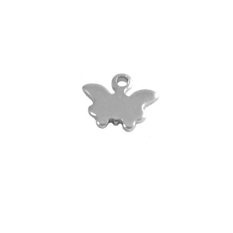 Charm in Acciaio Inox Farfalla 8x9mm