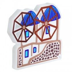 Πλέξι Ακρυλικό Επιτραπέζιο Κυκλαδίτικοι Ανεμόμυλοι 120x100mm