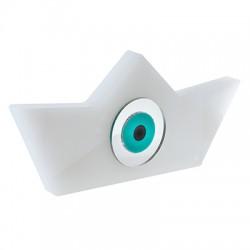 Πλέξι Ακρυλικό Επιτραπέζιο Bάρκα με Μάτι 140x64mm