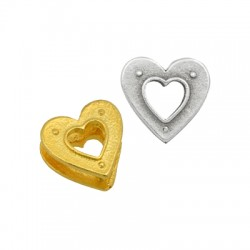 Μεταλλικό Ορειχάλκινο (Μπρούτζινο) Στοιχείο Καρδιά 12mm