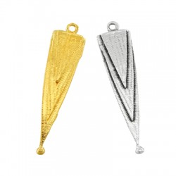 Brass Pendant Triangle 10x35mm