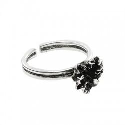 Μεταλλικό Μπρούτζινο Δαχτυλίδι Λουλούδι 12x10mm