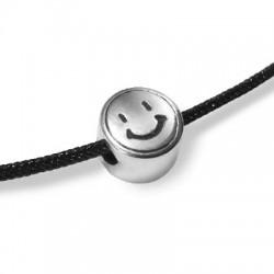 Μεταλλική Ζάμακ Χυτή Χάντρα Χαμόγελο 7mm/4.4mm (Ø2mm)