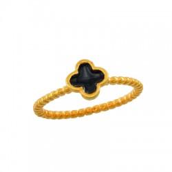 Brass Ring Cross w/ Enamel 7.7mm