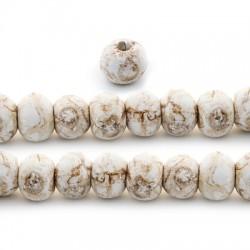 Perla in Ceramica Smaltata Effetto Marmo 12mm (Ø4mm)