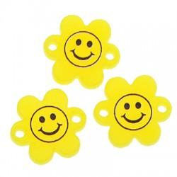 Πλέξι Ακρυλικό Στοιχείο Λουλούδι Πρόσωπο για Μακραμέ 15mm