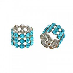 Tube with Strass 10x12mm