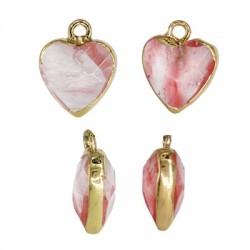 Ημιπολύτιμη Πέτρα Χαλαζίας Μοτίφ Καρδιά 12mm