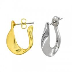 Brass Earring Hoop w/ Safety Back 18x19mm