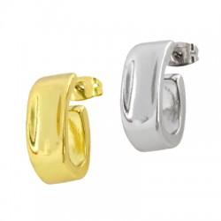 Brass Earring Hoop w/ Safety Back 11x19mm