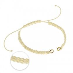 Semi-Finished Macrame Bracelet with 2 rings