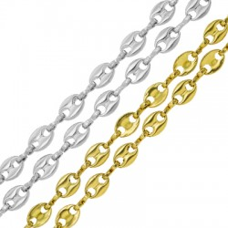 Stainless Steel 304 Chain Oval Connectors 5.2x7.4mm