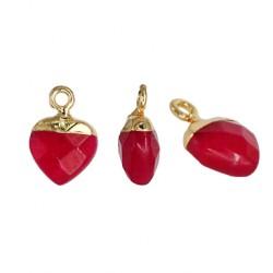 Semiprecious Stone Charm Heart 10mm