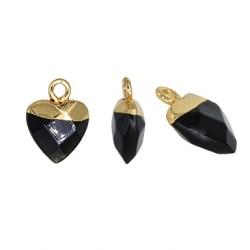Ημιπολύτιμη Πέτρα Μοτίφ Καρδιά 10mm