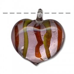 Ciondolo in Vetro Murano Cuore 37x41mm