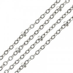 Steel Chain 1.5x0.8mm with 2.2mm Bead