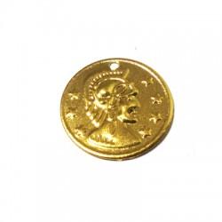 Charm in Acciaio Moneta 15mm