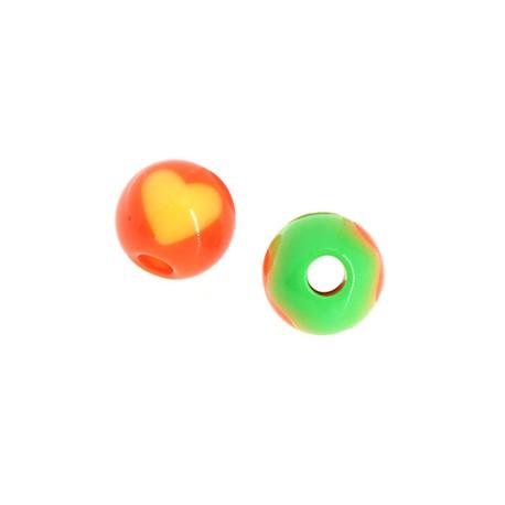 Perlina con Cuore in Acrilico 8mm