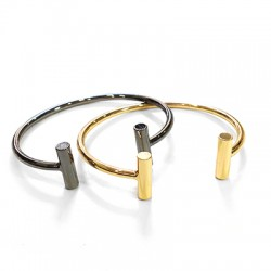 Brass Bracelet 2 Bars 64mm
